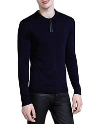 The Kooples Collared Sweater Navy