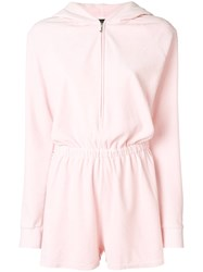 Juicy Couture Swarovski Embellished Velour Romper Pink And Purple