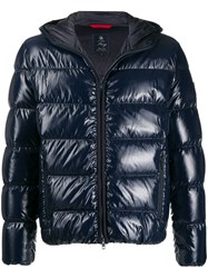 Fay Hooded Padded Jacket Blue