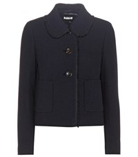 Miu Miu Virgin Wool Jacket Blue