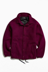 Urban Outfitters Uo Wool Coach Jacket Plum