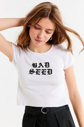 Truly Madly Deeply Bad Seed Tee White