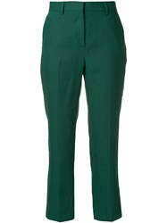 Paul Smith Straight Leg Cropped Trousers Green