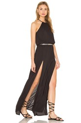 Blue Life Double Slit Maxi Dress Black