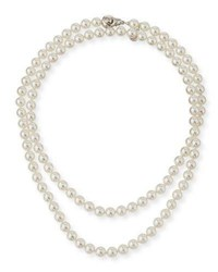 Majorica 8Mm Simulated Pearl Necklace With Moveable Clasp 35 White