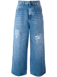 J.W.Anderson Cropped Distressed Jeans Blue