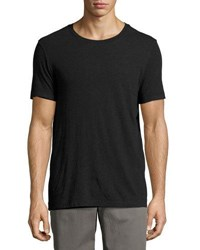 Vince Double Layer Reversible Jersey Tee Black