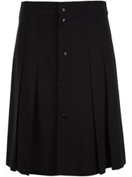 A.P.C. Pleated Kilt Skirt Black