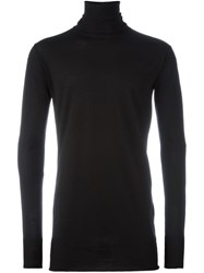 Ann Demeulemeester Roll Neck Jumper Black