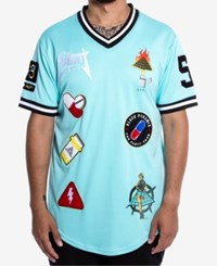 Black Pyramid Men's Party Patches Jersey Blue