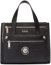 Versus Black Leather Small Tote