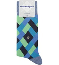 Burlington Fashion Geometric Cotton Socks Light Jeans