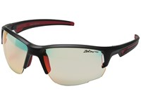 Julbo Eyewear Ventrui Performance Sunglasses Matte Black Red Sport Sunglasses Gray