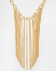 New Look 70S Chain Linked Drape Necklace Gold