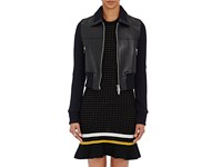 3.1 Phillip Lim Women's Leather And Rib Knit Jacket Black