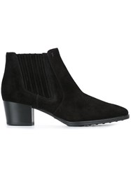 Tod's Block Heel Ankle Boots Black