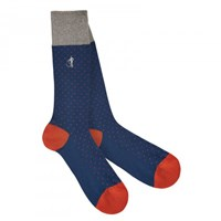 London Sock Company Martina Navy And Orange