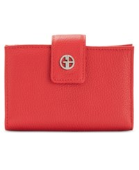 Giani Bernini Wallet Softy Leather Indexer Scarlet