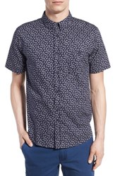 Men's Native Youth Pineapple Print Short Sleeve Woven Shirt