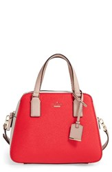 Kate Spade New York Cameron Street Little Babe Leather Satchel Red Prickly Pear Multi