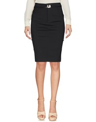 Flavio Castellani Knee Length Skirts Black