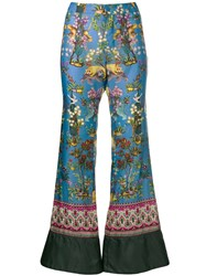 F.R.S For Restless Sleepers Asiatic Print Trousers Blue