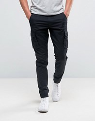 Only And Sons Cargo Trouser In Skinny Fit Black