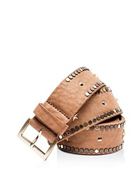 Zadig And Voltaire Starlight Leather Belt Brown