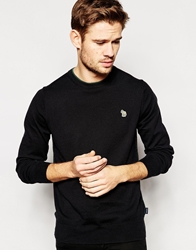 Paul Smith Jeans Jumper With Zebra Logo In Crew Neck Black