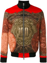 Givenchy Baroque Print Bomber Jacket Red