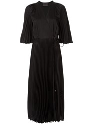Ginger And Smart Provincial Sunray Pleated Dress Black