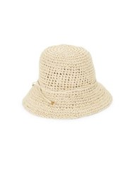 Parkhurst Crocheted Bucket Sun Hat Wheat