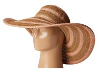San Diego Hat Company Ubl6489 Round Crown Stripe Ultrabraid Floppy Brown Traditional Hats