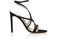 Gianvito Rossi Women's Crystal Embellished Strappy Sandals Red Purple Black