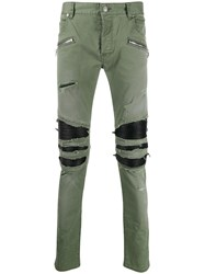 Balmain Distressed Slim Fit Trousers 60