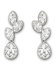 Swarovski Tranquility Silvertone And Crystal Drop Earrings