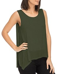 B Collection By Bobeau Faith Asymmetric Layered Tank Olive