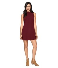 Culture Phit Jordan Sleeveless Mock Neck Dress With Open Sides Wine Women's Dress Burgundy