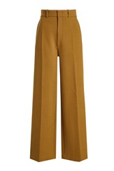 Joseph High Waisted Pants With Wool Green