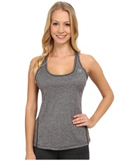 New Balance Heathered Jersey Tank Top Black Heather Women's Sleeveless