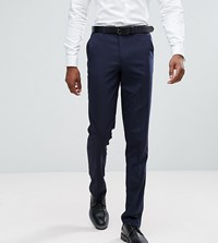 Asos Tall Slim Smart Trousers In Navy Navy