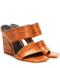 Mercedes Castillo Laurann Leather Sandals Brown