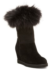 Australia Luxe Collective Foxy Genuine Sheepskin Wedge Boot Black
