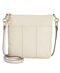 Tommy Hilfiger Th Signature Pebble Leather Crossbody Oatmeal