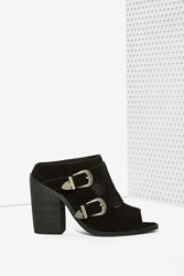 Nasty Gal Nightwalker Blind Suede Mule