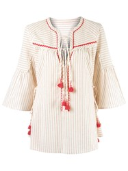 Talie Nk Striped Tunic Nude Neutrals