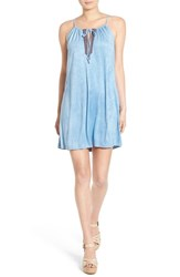 Women's As U Wish Embroidered Faux Suede Shift Dress