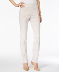 Charter Club Petite Cambridge Printed Pull On Slim Leg Pants Only At Macy's Sand Combo