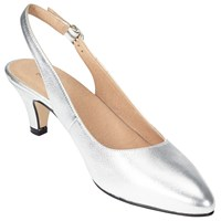 John Lewis Grace Kitten Heel Court Shoes Silver