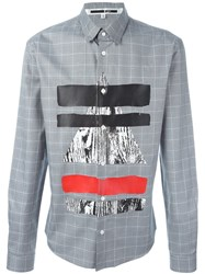 Mcq By Alexander Mcqueen Tribal Shapes 'Googe' Shirt Grey